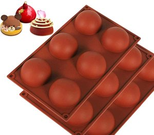 Silicone Mold for Chocolate, Cake, Jelly, Pudding, Round Shape Half Candy Molds Non Stick, BPA Free Silicone Molds for Baking