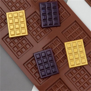 Wholesale diy rubber block resale online - Epoxy Resin Silicone DIY Mold Rectangle Large Size Chunk Mould Chocolate Waffle Candy Jelly Ice Block Cake Molds New Arrival ld L2