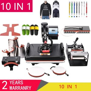 Wholesale shirt heat press machine for sale - Group buy 10 in Combo Heat Press Machine Sublimation Heat Transfer Machine For T Shirt Plate Mug Shoe Pen Cap Phone Case Bottle