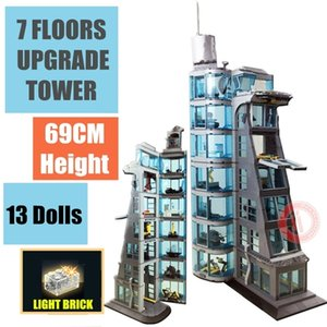 Wholesale kids spider man toys for sale - Group buy New FLOORS Upgraded Iron Spider STARK Tower Industry Man Figures Fit Model Building Block Brick Kid Gift Toy Birthday C1114