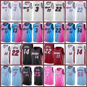Dwayne Dwyane 3 Jimmy Wade Tyler 21 Butler 14 Herro Basketball Jersey new Bam 13 Adebayo jerseys 2021 new jerseys