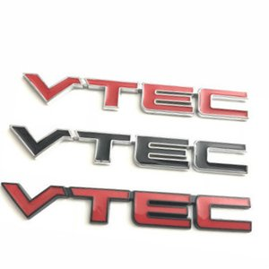 Wholesale honda civic fender resale online - 1X Red VTEC Metal Zinc Alloy Car Styling Refitting Emblem Fender Tail Badge Sticker for Honda Civic Accord Odyssey Spirior