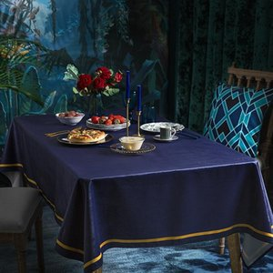 Wholesale entry tables resale online - Velvet Solid Color Tablecloth Entry Luxury Short Plush Table Cloth Home Hotel Dining Table Dust proof Cover Cloth Tablecloths