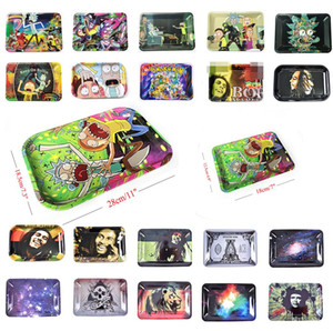 Wholesale roll papers for sale - Group buy DHL UPS Rolling Tray Roll Tobacco Rolling Papers Tinplate Metal Trays Size mm mm Painted tray for smoking pipes Thick Tray