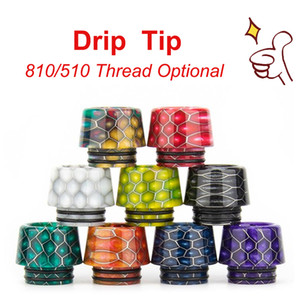Wholesale best drip tips resale online - The Latest Honeycomb Pattern E cig Vape Accessories Drip Tip Epoxy Resin Material With High Quality Best Price Fastest Shipping Time