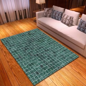 Wholesale room sized rugs resale online - Grey White Geometric Plaid D Printing Carpets For Living Room Bedroom Area Rugs Modern Home Large Size Floor Rug Kids Room Mat jR51