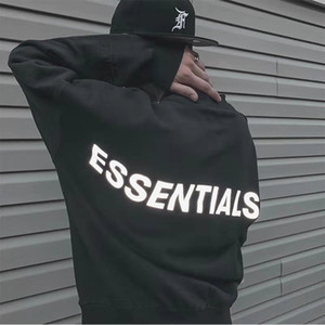 Mens Womens Hoodies Essentials Reflective Long Sleeve Fleece Hoodie Fashion Solid mens hoodie mens designers hoodies sweatshirts