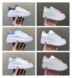 mädchen tennis schuhe großhandel-Schuhe White Green SuperStar Trainer Lace up Sliipers Skateboarding Casual Shoes Leather Fashion Tennis Sneakers