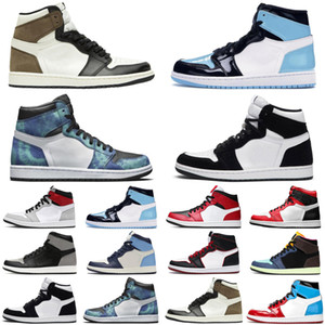 Wholesale retro air trainer for sale - Group buy hotsale satin jordan retro s jumpman air men women basketball shoes Dark Mocha Snake unc Obsidian mens trainers sports sneakers
