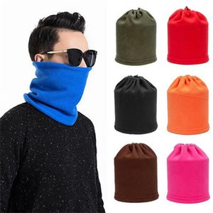 Wholesale polar fleece face mask for sale - Group buy Outdoor Face Mask Women Men Multifunction Sports Cycling Scarf Polar Fleece Warm Hat Autumn Winter Hat Three In One Adjustable Hats F10901