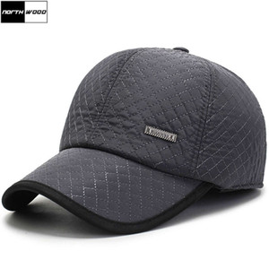 Wholesale winter baseball caps ear flaps for sale - Group buy New Mens Winter Baseball Ear Flaps Brand Snapback Hats Thicken Cotton Fitted Trucker Cap