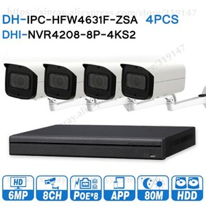 Wholesale dahua poe nvr resale online - Dahua MP Security CCTV System MP POE Zoom IP Camera IPC HFW4631F ZSA POE K NVR NVR4208 P KS2 Surveillance