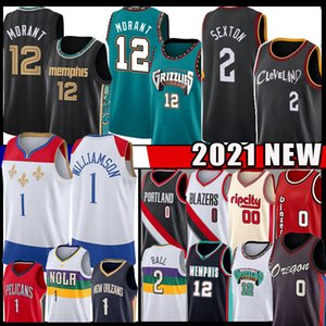 lillard 2  al por mayor-Collin Sexton Ja Morant Zion Williamson Damian Lillard New Basketball Jersey Lonzo Ball Carmelo Anthony Jerseys Mens