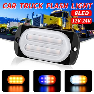 luces de barra de luz estroboscópica ámbar al por mayor-Impermeable LED Carro de coche Flash V V Motocicleta Baliza de emergencia ADVERTENCIA Peligro Flash Strobe Encienda Barra de luz Ámbar Rojo Blanco Azul