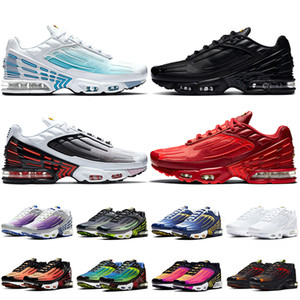 Wholesale running shoes mens for sale - Group buy 2020 Top Quality Tn Tuned Womens Mens Running Shoes TN Plus Laser Blue Leather Triple Black Crimson Red mens trainers sneakers