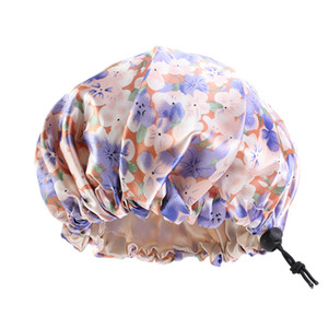 Wholesale baby hat bonnet for sale - Group buy Adjusting Bath Animal Baby Hat Buckle Hair Care Bonnets Silk Satin Fitted Sleep Hats Round Head Wrap Bathroom Products ba B2