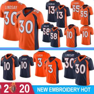 30 Phillip Lindsay #Terrell Davis 10 Jerry Jeudy 3 Drew Lock Mens 58 Von Miller Jerseys 55 Bradley Chubb 4 Keenum 13 Siemian 5 Flacoo 2020