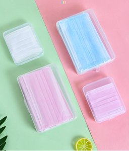 Wholesale creative face mask resale online - Portable Mask Storage Box New dust proof mask storage box creative portable anti pollution flip cover dust proof plastic temporary mask box