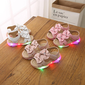 Wholesale shoes luminous children for sale - Group buy Sandals Children Baby Girls Bowknot Led Light Luminous Sport Cute baby girl clothes Sandals Sneaker Shoes For Child Dropshipping