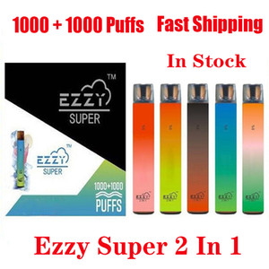 Ezzy Super 2 In 1 Design Disposable Device Kit 2000 Puff 900mAh 6.5ml Pod Prefilled Vape Pen VS Kangvape Onee Bang Bar Plus XXL Max Flow