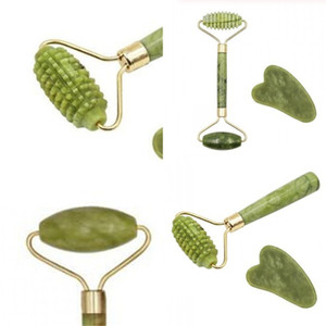 Wholesale stick manual resale online - Natural Jade Roller Massager Manual Beauty Instrument Classic Massor Stick Guasha Scrapping Tool Anti Lifting Facial Skin hh D2