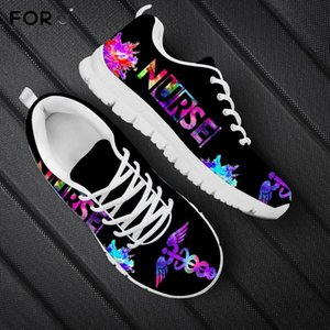 Wholesale shoes for nurses for sale - Group buy FORUDESIGNS Galaxy Nurse Printed Shoes Women Fashion Casual Spring Mesh Sneakers Ladies Brand Nursing Gifts for Woman Footwear LJ201130