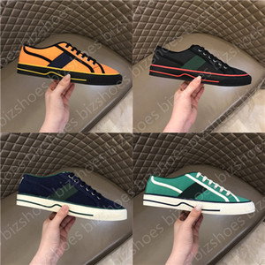 Wholesale shoes tennis resale online - Tennis Print Sneaker Green and red Web stripe shoe Luxurys Low Top Lace Up Classic Cellulose Grid sneakers Designers Casual Shoes