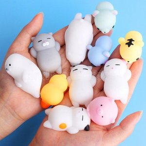 ingrosso sfere di sforzo-Squishy Min Change Color Cute Cat Cat AntiTistress Squishy Ball Spremere Mochi in aumento Abreact Soft Sticky Stress Sollier Sollier Divertente Giocattoli regalo