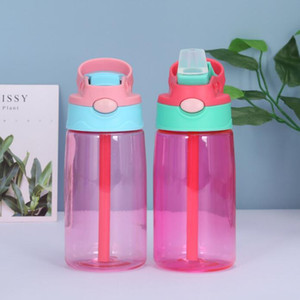 Wholesale thermos kids water bottle for sale - Group buy Kids Plastic Water Bottle Baby Sippy Cup With Straw Water Feeding Learner Cup Creative Thermos Spill Proof Bottles ml Colors KKB2820
