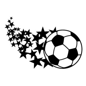 Wholesale stars car decals resale online - 16 cm Soccer Ball Stars Love Girl Cute Sports Mom Parent Futbol Vinyl Decals Stickers Car Sticker car accessories