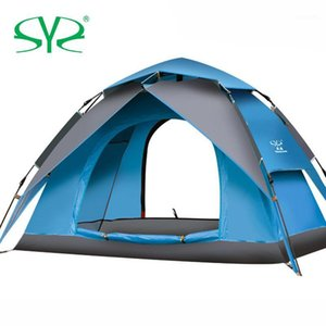 Wholesale hydraulic double for sale - Group buy Automatic Hydraulic Camping Tent Person Family Tent Double Layer Instant Setup Protable Backpacking for Hiking Travel1