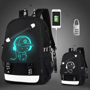 Wholesale teenagers backpacks for sale - Group buy HBP Anti thief Children School Bags Boy Girl Anime Luminous School Backpack Teenager Schoolbag Waterproof Kids Bag USB Charging Port