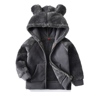Wholesale baby boy bear clothes for sale - Group buy Kids Jacket Winter Hooded Teddy Bear Coat Faux Fur Stitch Fleece Windbreaker Children Jacket Outwear Baby Boy Girl Clothes Oct