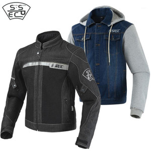 Wholesale jacket motocycle resale online - SSPEC Motorcycle Jeans Jacket Breathable Summer Mesh Riding Jacket Reflective Motocycle racing Outwear Jackets Protective1