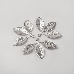 Wholesale lead nickel free jewelry for sale - Group buy 20pcs x2m Metal Filigree Leaf Pendants Gold Silver Color Floating Charms Accessoies For Diy Jewelry Making Lead Nickel Free H jllYng