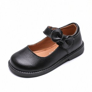 Wholesale leather shose for sale - Group buy Prinsess Fashion Bow Genuine Leather Shose Baby Girl Dress Party Shoe For School Children Big Kids Dance Shoe To b08P