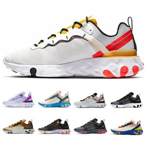 ingrosso sneakers gucci-Vendita calda Gucci nastrate Solar React Element React Totale Arancione Scarpe da corsa per le donne Athleti Mens Donne Trainer s Sneakers