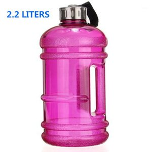 Wholesale gallon water bottles resale online - 2 L Large Capacity Eco Friendly Water Bottle Outdoor Sports Gym Space Half Gallon Fitness Training Camping Running Water Bottle1