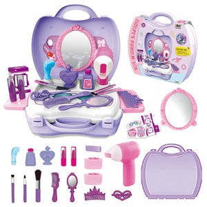 Wholesale kids toy doctor set resale online - Children Portable Pretend Play Toys Set Doctor Kitchen Make Up Set Role Play Educational Classic Toys Suitcase Tools Kids Gift