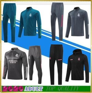 Wholesale zip soccer for sale - Group buy Real Madrid HAZARD tracksuit jacket kit MODRIC BENZEMA BALE Full Zip football Training suit Jackets Tracksuits Windbreaker Hoodie