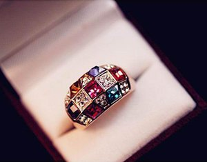 Wholesale asian models for sale - Group buy Engagement Rings Fashion Imitation Symphony luxury Noble Ring Female Models Factory Direct Crystal Rings