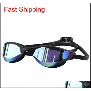 Wholesale swimming goggles resale online - Adult Waterproof Anti Fog Silicone Swimming Goggles Custom Competition Professional Swimming Goggles Hd Swimming Goggles Pl5Cu