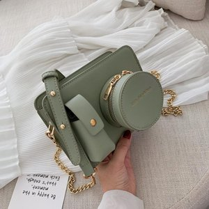Wholesale camera shaped bag resale online - Fashion Camera Shape Shoulder Bags For Women PU Ladies Chain Crossbod Bags Casual Brand Design Bag Color Solidr Messenger Purse