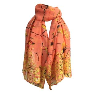 Wholesale cotton voile scarves for sale - Group buy 7 Colors Women Cotton Linen Sunscreen Voile Beach Shawl Retro Classical Bird Printed Lightweight Scarf Blanket Wrap Skirt