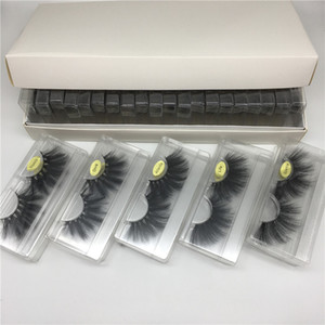 Wholesale label makeup resale online - 25mm D Mink Eyelashes D Mink Lashes Packing In Tray Label with Cover Eye Makeup Dramatic Long mm Faux Mink Lashes Styles
