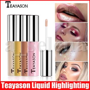 Wholesale highlight make up resale online - Teayason Face Eye Makeup Highlight Face Liquid Golden Bronzer Highlighter Make Up Shimmer Powder Highlighting Base Colors