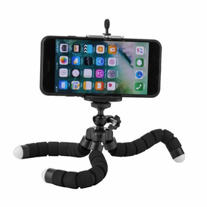 Wholesale smartphone tripod stand for sale - Group buy Flexible Tripod Holder Bracket Mini Flexible Phone Tripod For Mobile Phone Smartphone Selfie Stand Mount Sponge Octopus Monopod
