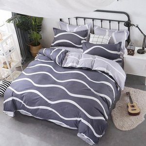 Wholesale queen comfort set resale online - Autumn And Winter New Corrugated Style Bedding Set With Simple Sheets Sheets And Pillowcases Cheap Comforter Sets Queen King Comfort TZ6v