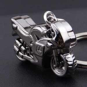 Wholesale metal motorcycle keychain resale online - New Motorcycle Key Chain Charm metal keychain men women Car Key Ring color key holder best gift jewelry