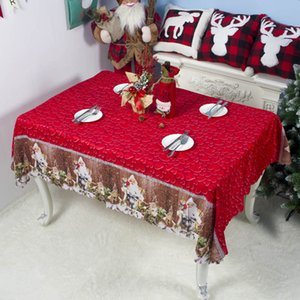 Wholesale tablecloths christmas resale online - 7 Styles Xmas Decorations New Christmas Tablecloth Christmas Cartoon Polyester Tablecloth Washable cm Festive Christmas Tablecloth
